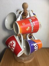 6 CHOCOLATE MUGS ON MUG TREE CARAMEL MUNCHIES DOUBLE DECKER KITKAT