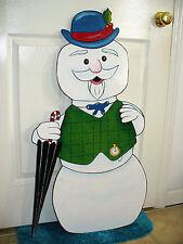HAND MADE SAM SNOWMAN 38'' X 21'' FROM RODULPH STORY. CHRISTMAS YARD ART DECOR