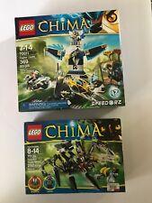 Lot of 2 LEGO CHIMA 70011 Eagles' Castle and Sparratus Spider Stalker NIB