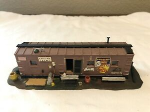 HO Scale Converted Box Car Office/Rest Area for Engine Crews Diorama