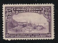 CANADA NO 101 WOLF QUEBEC VIEW IN 1770 FROM 1908 QUEBEC ISSUE FVF MINT HR