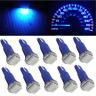 10pcs Wedge Ultra Blue 1-SMD Car LED T5 70 73 74 Dashboard Lights Gauge Cluster