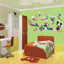 8 Roles Mickey Mouse Clubhouse Large Wall Sticker PVC Mural Baby Home Room Decor