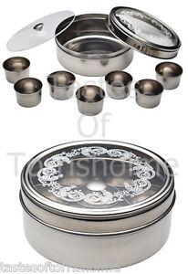 Kitchen Craft Stainless Steel Indian Herb Spice Tin Box Masala Dabba Storage Set