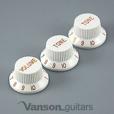 New VANSON Volume x Tone knob set for Strat®* type electric guitars, 6mm