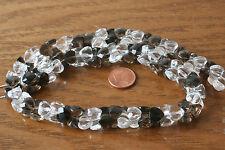 Cristal de Roca + Cuarzo Ahumado (Herz-Zwilling 8x11mm) O-3320/R