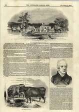 1843 The Flemish Farm Windsor Great Park Mr Francis Hobler Engraving