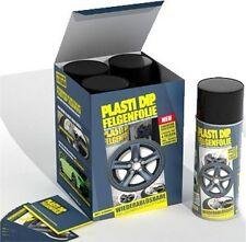 Kit de 4 bombes de 400ML Plastidip Plasti Dip Peinture Noir mat spray