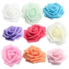 100pcs Artificial Roses Foam Flowers Heads for Wedding Bridal Garland Decor 8cm