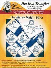 The Merry Maid Aunt Martha's DOW Hot Iron Embroidery Transfer #3970