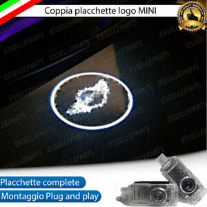 2 PROIETTORI LUCI LED LOGO MINI SOTTOPORTA R50 R52 R53 R55 R56 R57 ONE COOPER