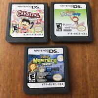 Nintendo DS Game Cartridge Lot Junior Mystery Quest, Super Scribblenauts Works!