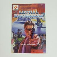 Lethal Enforcers (Super Nintendo, SNES) MANUAL Only Excellent