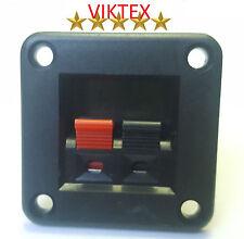 2x LAUTSPRECHER TERMINAL BOXEN ECKIG 2-POLIG KLEMMANSCHLÜSSE MINI 42x42mm 4mm²