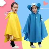 Sunma Kids Dinosaur Rain Poncho Hooded Waterproof Reflective Raincoat Breathable Rainproof Cape