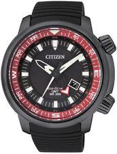 Men's Black Citizen Eco-Drive GMT Diver's Watch BJ7085-09E