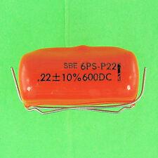 Sprague 6PS-P22 Mylar Capacitor .22uf 600V DC 10% Radial Lead VDC Pre-Tested NEW