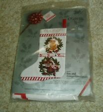 "SOMETHING SPECIAL CREWEL ""FOX AND GINGERBREADMAN"" STOCKING KIT - SEALED"