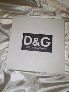 D&G dolce&gabbana box custodia vintage anni 80 cm28 x 28 altezza 3cm