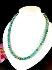 FABULOUS JAY KING DESERT ROSE TRADING 925 STERLING TURQUOISE BEAD NECKLACE
