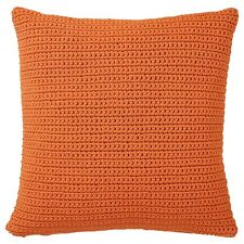 "IKEA Sotholmen Cushion Cover Indoor/Outdoor Orange Handmade 20x20"" -Set Of 2-"