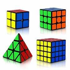 Coolzon Rubix Cube Set, Magic Speed Cube Bundle 2x2 3x3 4x4 Pyraminx Pyramid, Ea