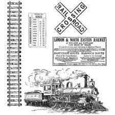 Tim Holtz Rubber Stamp Set-Sur le chemin de fer CMS 127