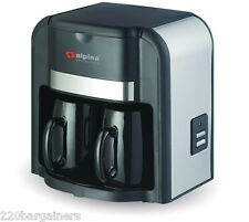 Alpina 220 Volt New 2 Cup Coffee Maker 220v for Europe Asia Africa Voltage