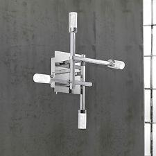 wofi LED Wall Light Delmar 4-flg Chrome Lamp Wall Switch 8 Watt 640 LUMENS