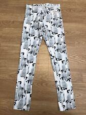 Girls H&M Penguin Leggings 9-10 Years