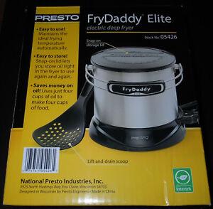 NEW Presto FryDaddy Elite 05426 Deep Oil Fryer Electric 4 Cup 1lt. 1100 Watts