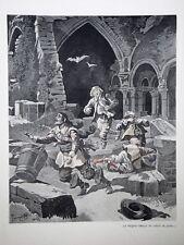 """c71-72 Gravure contes & récits d'Alsace """"Sita la tzigane"""""""