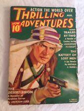 Thrilling Adventures Aug 1938, Johnston McCulley, Jackson Cole, Kenneth Sinclair