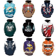 NFL Fans Fashion Men's Soft Hoodies Sweatshirt Jackets Support suit AFC NFC US!