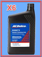 6 Quarts GMC OEM Automatic Transmission Fluid (ATF) AcDelco Dextron VI