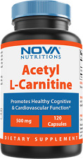 Nova Nutritions Acetyl L-Carnitine 500mg Capsules - Helps Maintain Healthy Brain