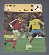 FICHE FOOTBALL 1974 JERZY GORGON POLSKA POLOGNE GORNIK ZABRZE