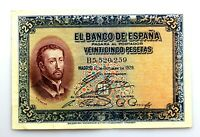 Spain-Billete. San Francisco Javier. 25 Pesetas. 1926. EBC-/XF-. Escaso
