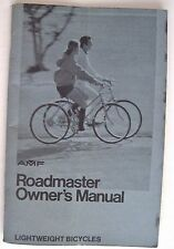 """Vintage """"AMF Roadmaster Owner's Manual"""" Bicycle Manual w/ Picture of Bike *"""