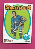 1971-72 TOPPS # 22 SABRES DOUG BARRIE ROOKIE EX-MT CARD (INV# A8627)