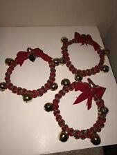 Set of 3 Handmade Jingle Bell Christmas Tambourines for Christmas Caroling