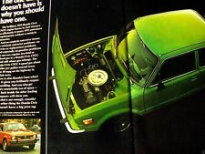 "1975 Honda Civic Honda Civic Wagon-Original Print Ad 9 x 11"" 2 page"