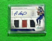 PHAROH COOPER TRI PATCH AUTO ROOKIE CARD SP#/499 RAMS 2016 ABSOLUTE FOOTBALL RC