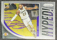 LeBron James 2019-20 Panini Prizm Get Hyped Insert Card #2 Los Angeles Lakers L1
