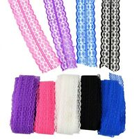 10 Yards Stretch Net Lace Trim Ribbon DIY Sewing Embroidered Decor 45mm