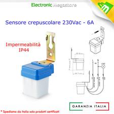 Sensore Crepuscolare Led 220V Faro Faretto Lampade IP44