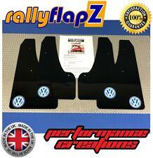 Mudflaps & Fixings to fit VW Golf Mk7 all models Black 4mm PVC Logo White & Blue