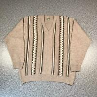 Vintage 90s FERNANDOXIA Cosby Style Mens Sweater Large | 3D Knit Jumper