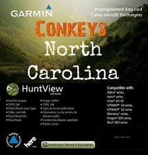 Garmin North Carolina HuntView State Birdseye Map 24K TOPO and Land Boundaries