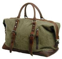 Canvas Travel Handbag Sports Overnight Weekend Carry-on Luggage Duffel Gym Bag